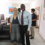 Project Manager Brianna Parsons meets with a representative from The Gambia National Nutrition Agency