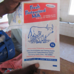 Milk sachets as used with the Milk-Pro processing facility