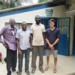 Project Manager Corey Spies (right) pictured with livestock researchers from the International Trypanotolerance Center