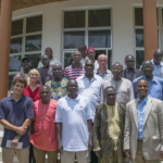 Stakeholders and project managers pose after a stakeholder seminar in August 2016